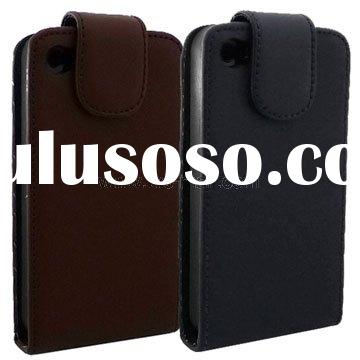 For iPhone 4S Belt Clip Leather Case with Rubber Inner Padding