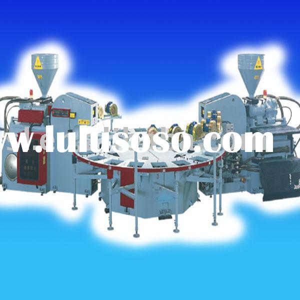 Fully Auto Round-Disk Type Dual-Color Plastic-Rubber Sole Injecting & Forming Machine