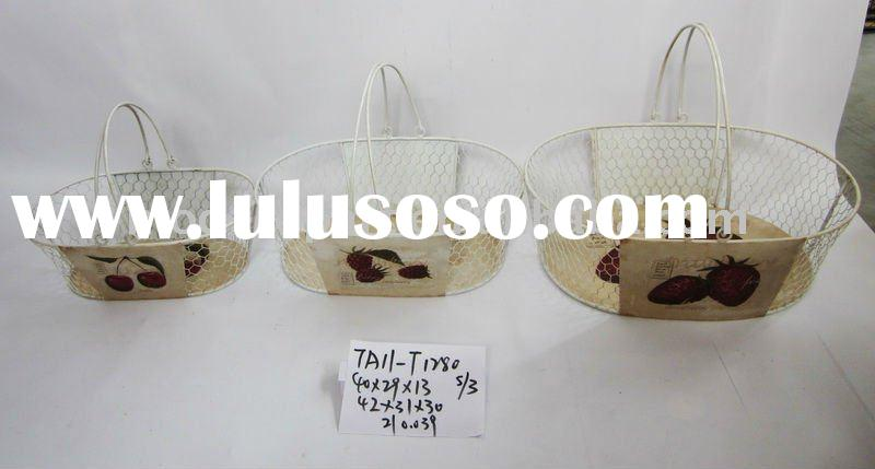 HOT SALES ITEM&HOME DECORATION&METAL BASKET