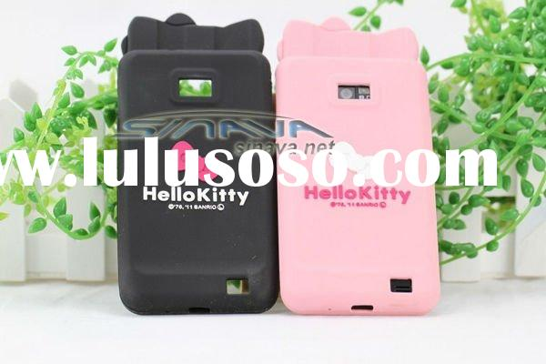Hello Kitty Double Bow Silicone Case Cover For Samsung Galaxy S2 i9100