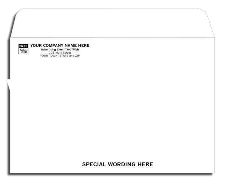 High quality Open Top White Mailing Envelope