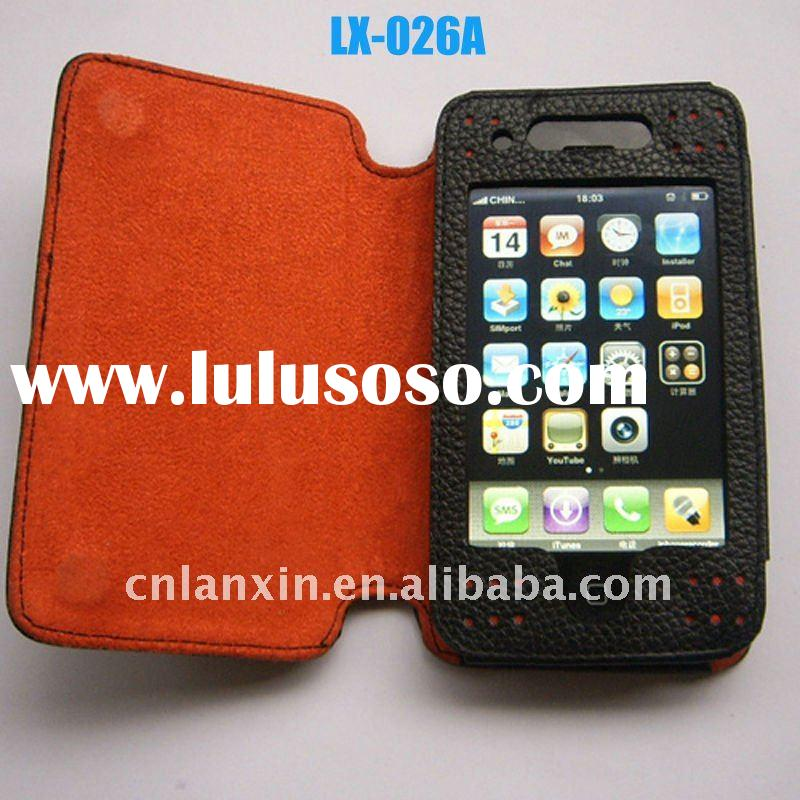 High quality cell phone leather folio case