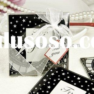Hollywood Themed Glass Photo Frame Coasters - 4 Of Set