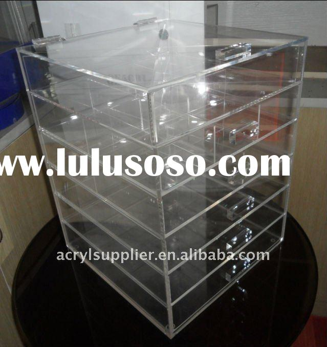 Hot sale acrylic makeup/cosmetic storage organizer with drawers