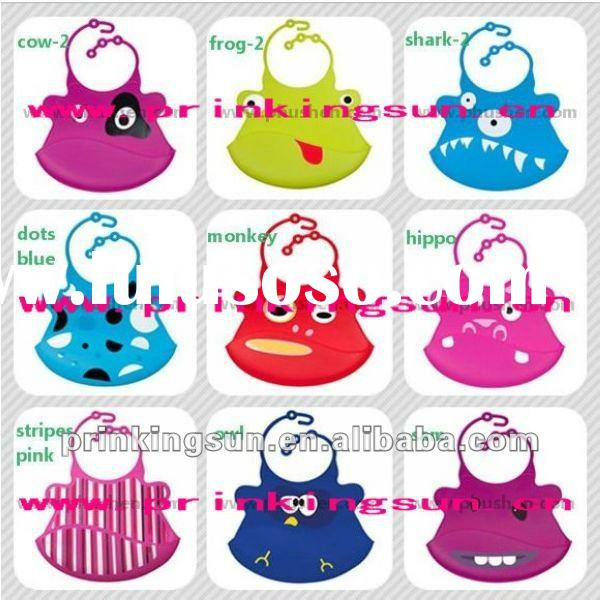 Hot sale various design Silicone baby bib silicon scarf FDA approvement
