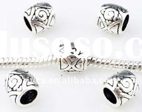 Hottest*8mm silver cube beads,in round cube shape
