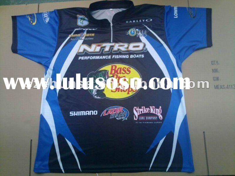 KL-F003 Sublimation fishing jersey,custom fishing wear