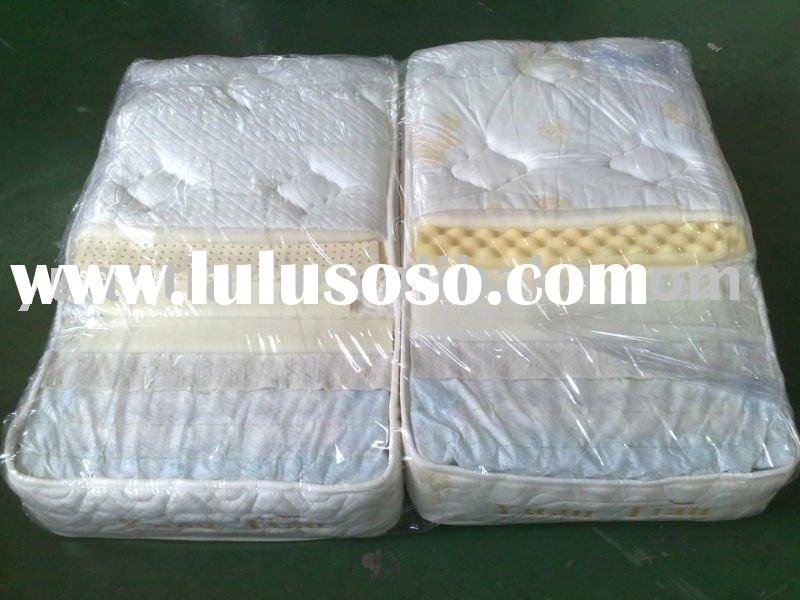 Knitting Fabric Mattress with springs,latex,quilted foam
