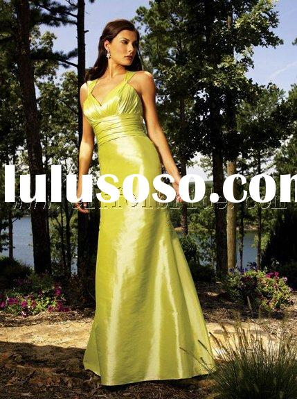 LY-20320001 light and dark green Bridesmaid Dresses\gown dress \fashion designer evening dress\