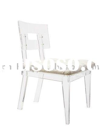 LY-6903 clear Acrylic Ghost chair with cushion, acrylic furniture
