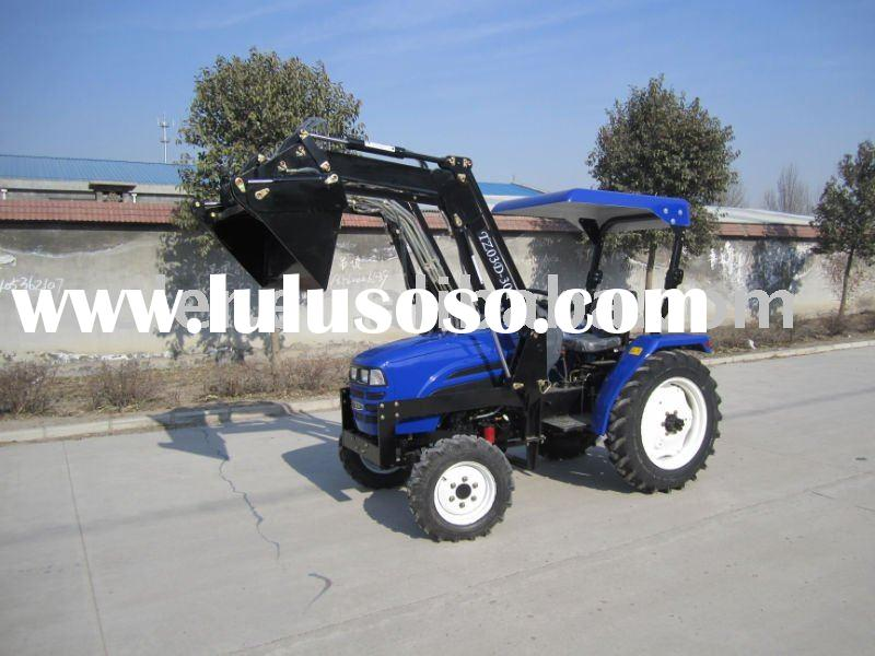 LZ304,30HP, 4WD mini garden tractors fit with 4in1 front end loader, mini garden tractor loader