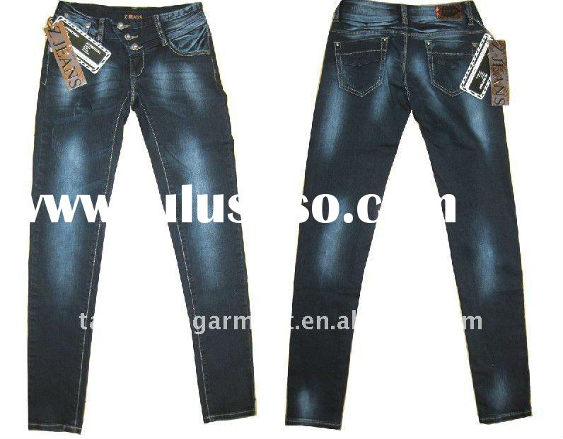 Lady fashion South American colombian jeans with jeans
