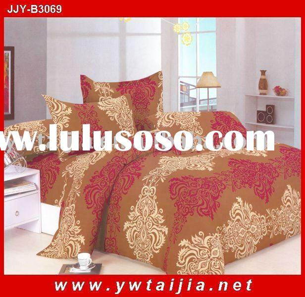 Latest style polyester luxury queen brand bed sheets