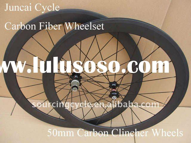 Light weight & 50mm carbon clincher wheelset 700C for road bike with 20/24 holes