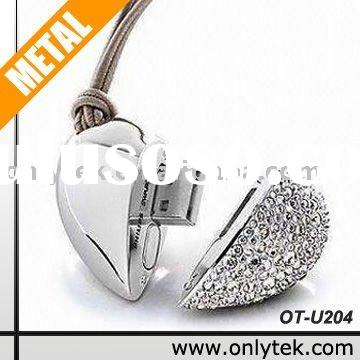 Love heart shape Jewelry USB with Laser Logo