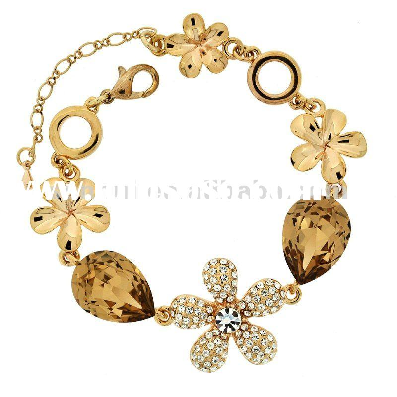 Luxury flower gold plated jewels
