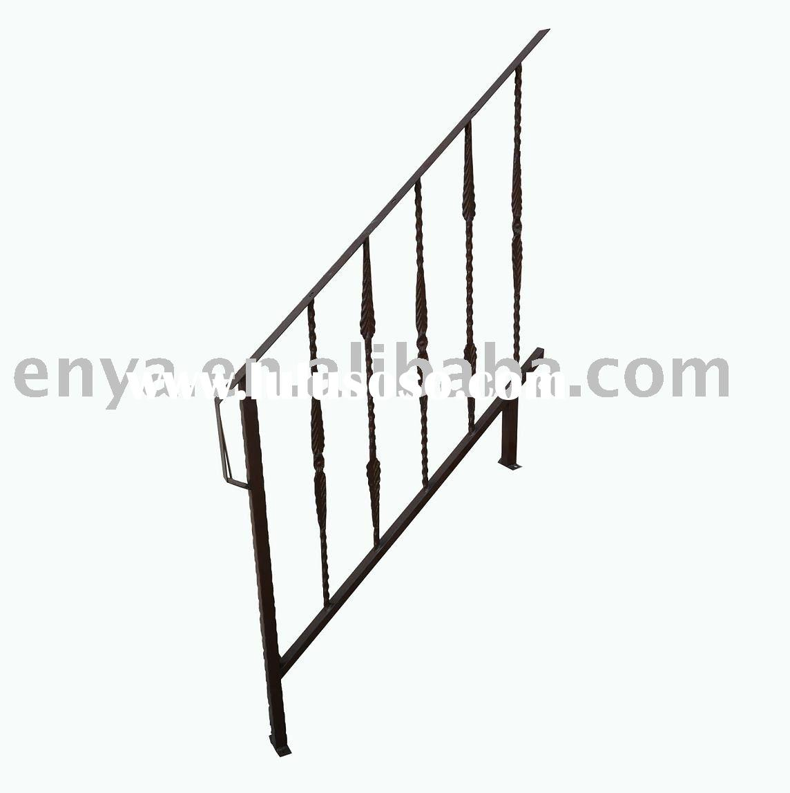 Outdoor Wrought Iron Fence Parts Awesome Spindles With Enchanting Stair Railing 44