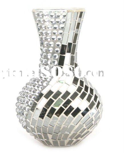 Mosaic Mirror Vase Vase And Cellar Image Avorcor