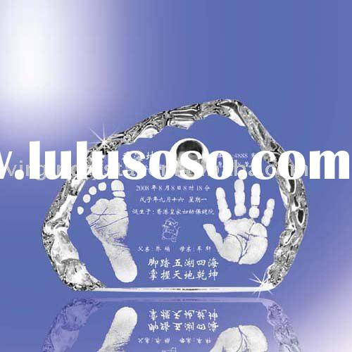 Optical Crystal Iceberg Engraved Baby Shower Souvenir Award