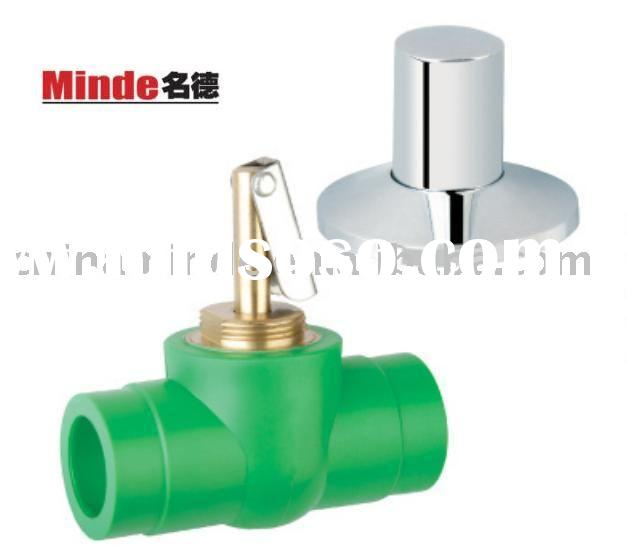PPR Ball Valve With Brass Decorative Ball & PPR Ball Valve & PPR Valve