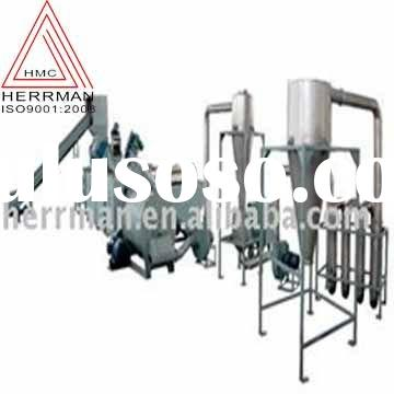 PP/PE waste plastic crushing washing dewatering drying recycling line