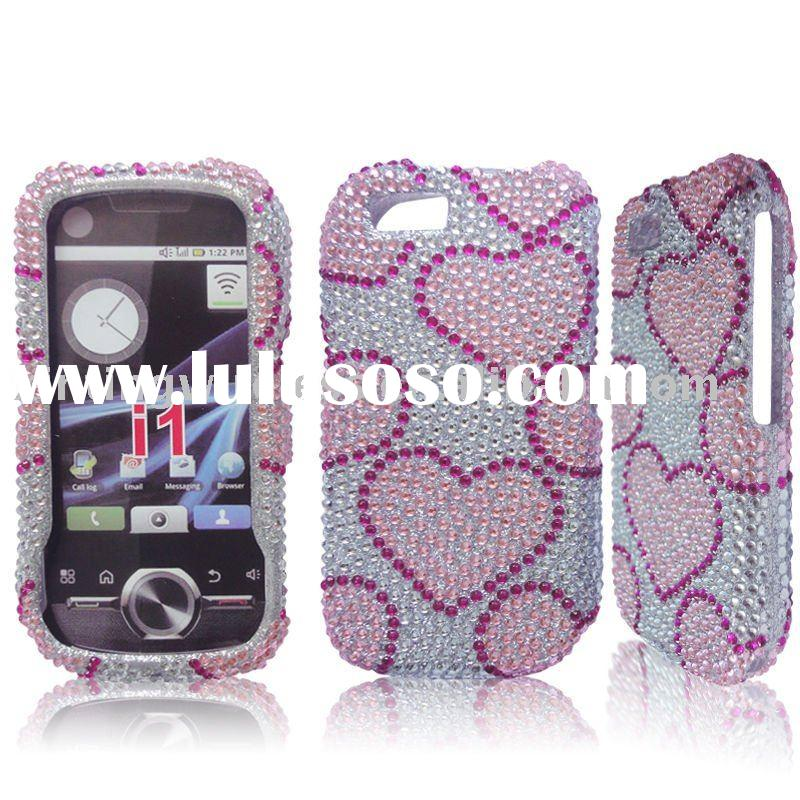 Pink Heart bling diamond crystal case cover for Cell phone accessories
