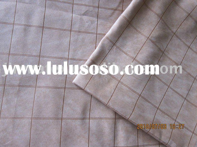 Polyester checked sofa fabric