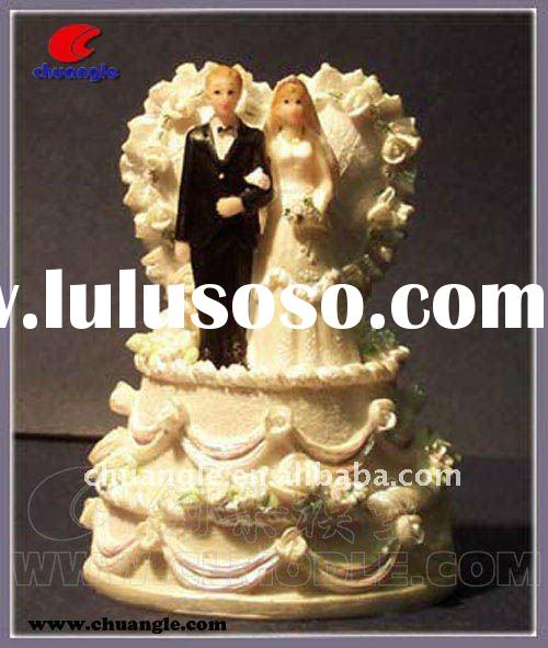 Polyresin wedding crafts, decorative wedding favors, wedding couple figurines