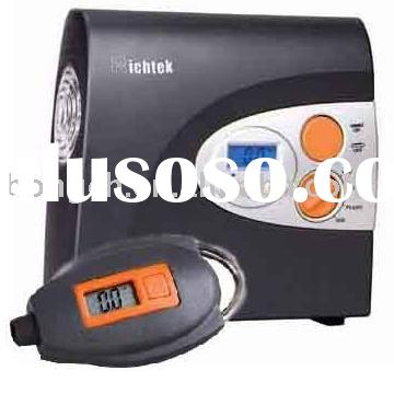 Portable mini air compressor and digital tire gauge kit: RCP-A1 and RCG-A1