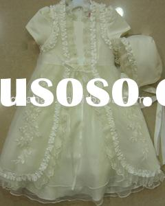 Pure Cream Christening Gown with hat and cape