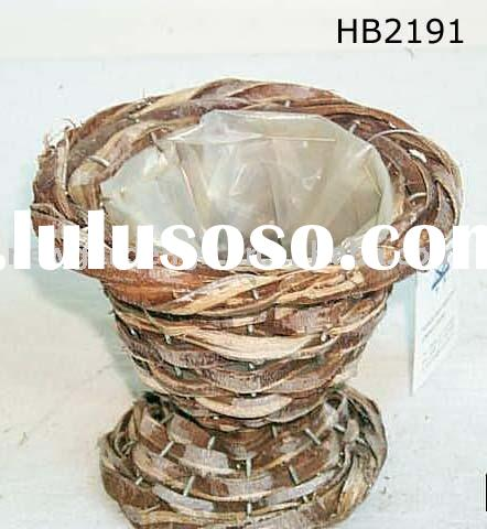 Rattan Planter Flower Cup