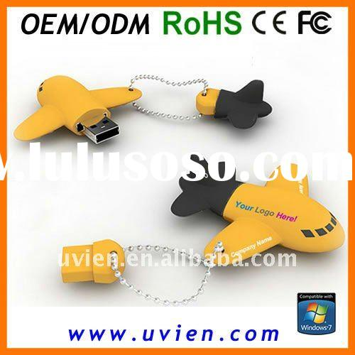 Rubber Mini Airplane USB Flash Drive
