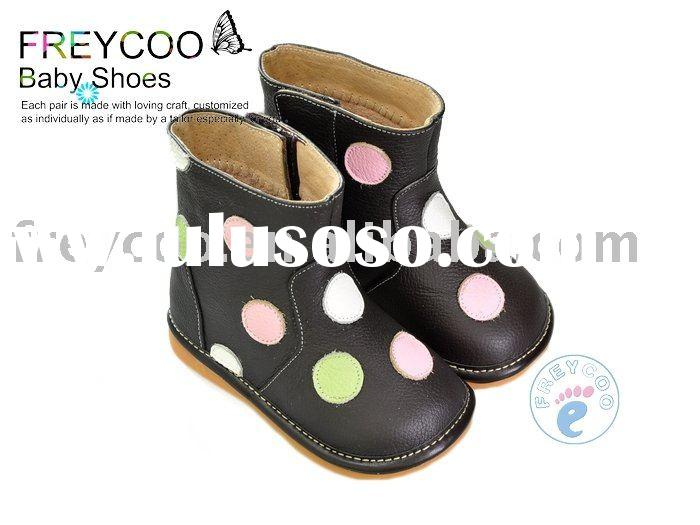 Rubber sole baby snow boots PB-6051BR