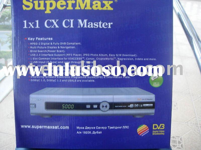 Supermax 1x1 CXT satellite receiver set top box decoder