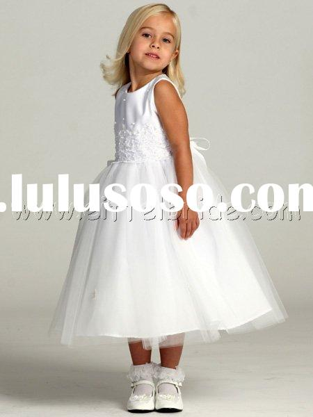 TMT1214 White Tulle Skirt with Matte Satin Bodice - Jasmine