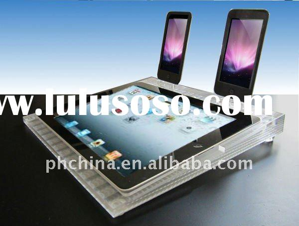 """Tablet 9.7"""" Clear Acrylic iPad 2 Display Dock / Panel / Desktop Stand without Ports"""