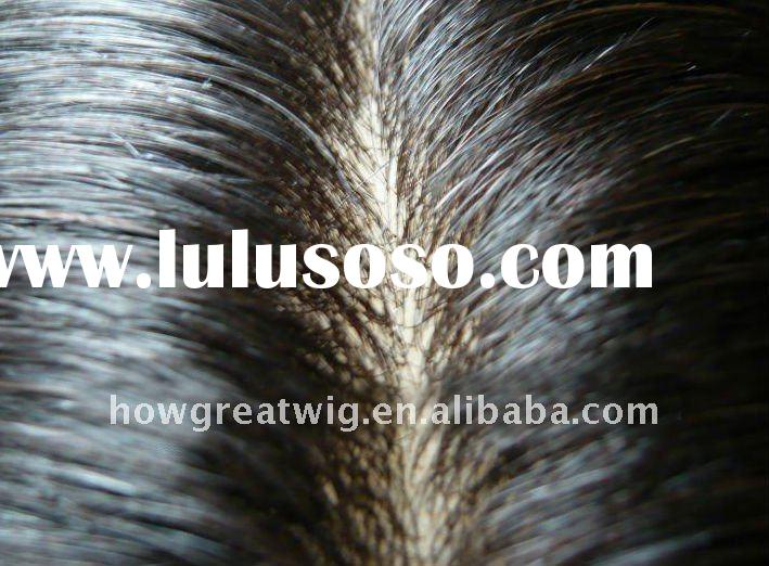 Top quality natural looking human hair men's toupee/wholesale toupee top quality