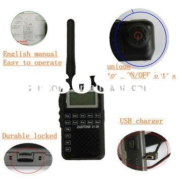 USB cable wakie talkie with FM radio function top power on button mini pocket two way radio with CE