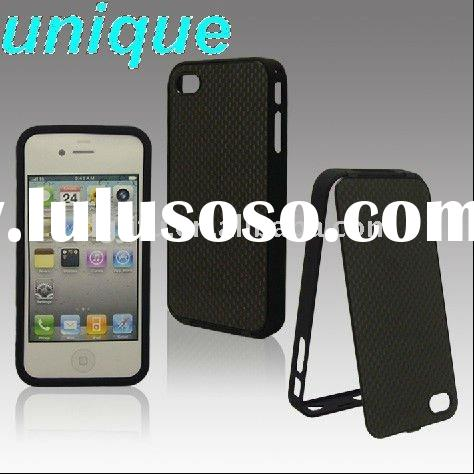 Unique Real Carbon Fiber cell phone accessory for iphone4