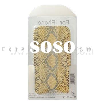 Vertical Animal Print Pattern Leather Case with soft lining for Phone 4G
