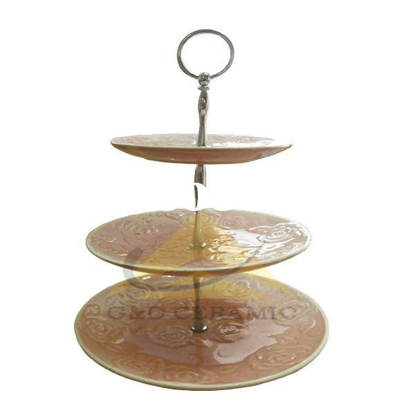 Vintage Clear Glass  Tier Cake Stand Price