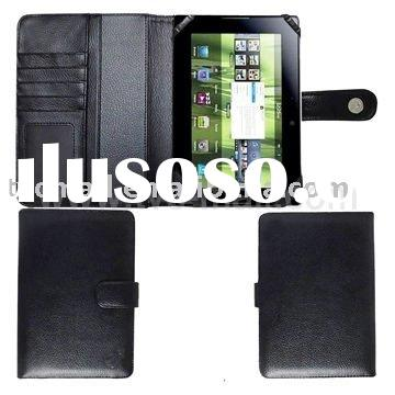Wallet Style Black Magnetic Flip Leather Case For Blackberry Playbook