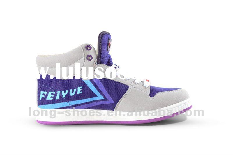 Wholesale Outlet price Feiyue 10N28E High Top Boots White Blue Navy Lace up Canvas shoes 215