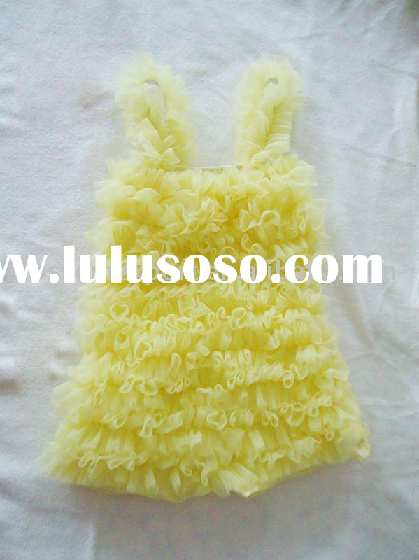 Yellow! PETTI LACE ROMPER WITH STRAP