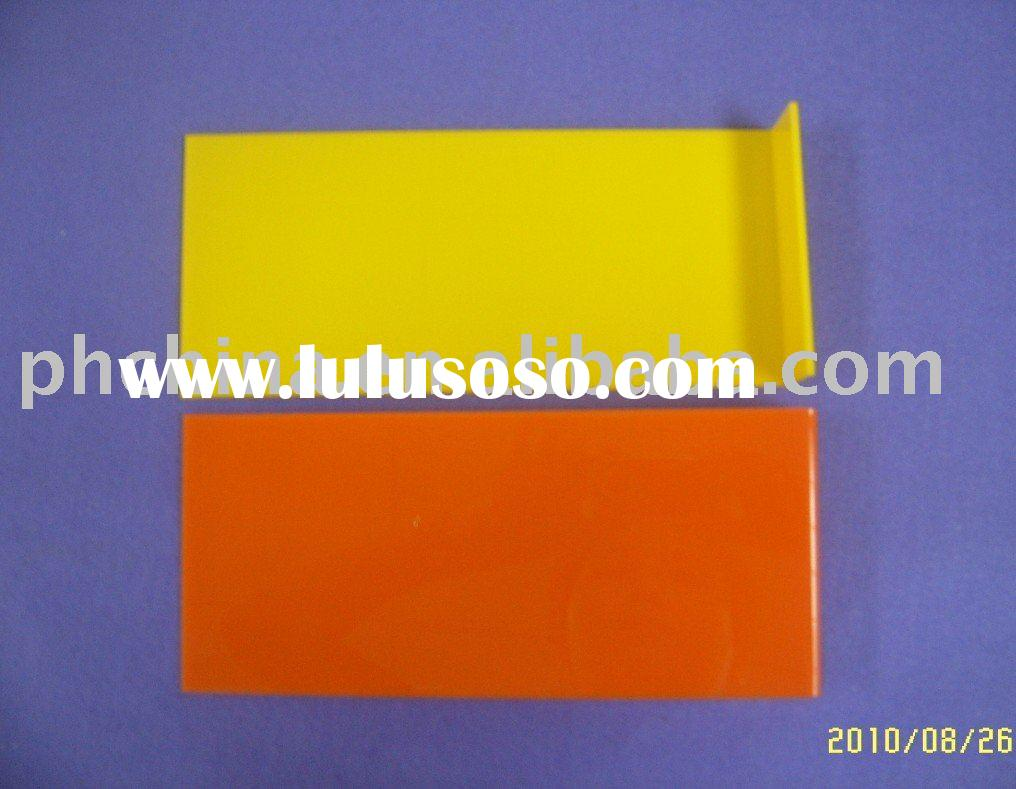 Yellow and Orange Acrylic Wall Mounted Shoes Rack;Acrylic Shoes Display Stand