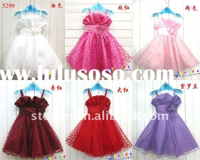 Young Girl Party Wear Dress TZ88-5299