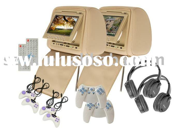 car head rest dvd with USB and MS/MMC/SD 7inch