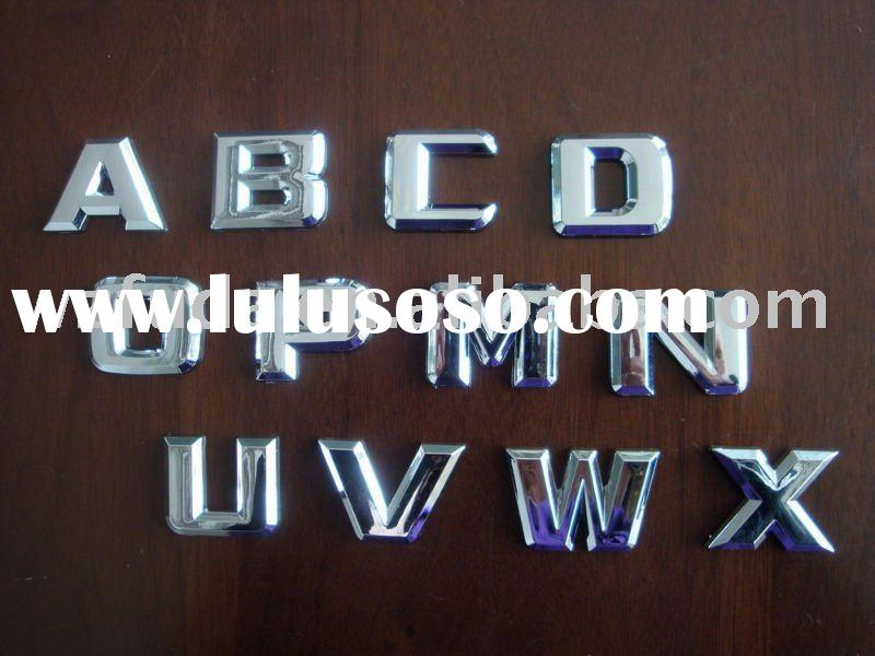 chrome letters,logo/car badge, auto emblem, ABS sign,car sticker