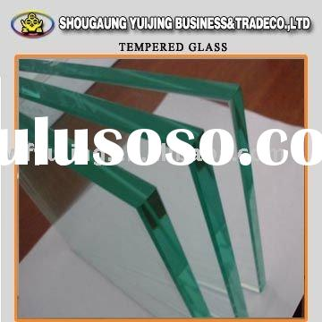 clear flat tempered glass