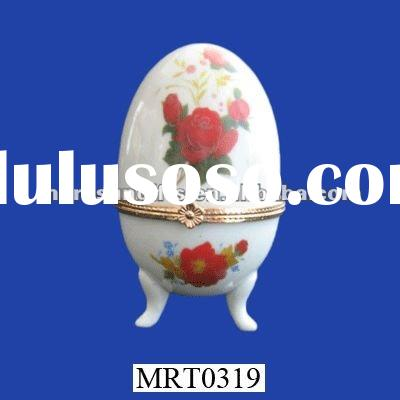 egg shaped trinket box